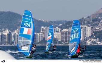 Rio 2016 RSX medal race Myszka za Francuzem