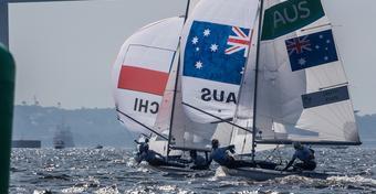 Dominik Życki z Rio: klasa 470 walczy o medale